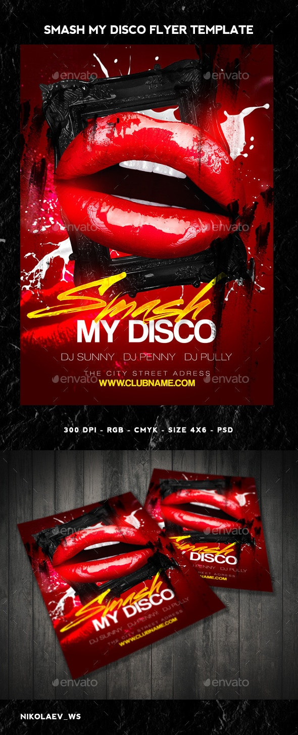 Smash my Disco Flyer - Clubs & Parties Events
