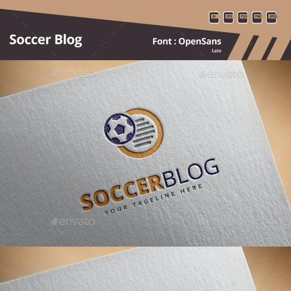 Soccer Blog Logo Template