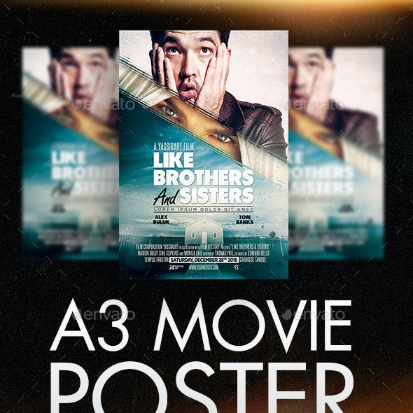 A3 Poster Film Template