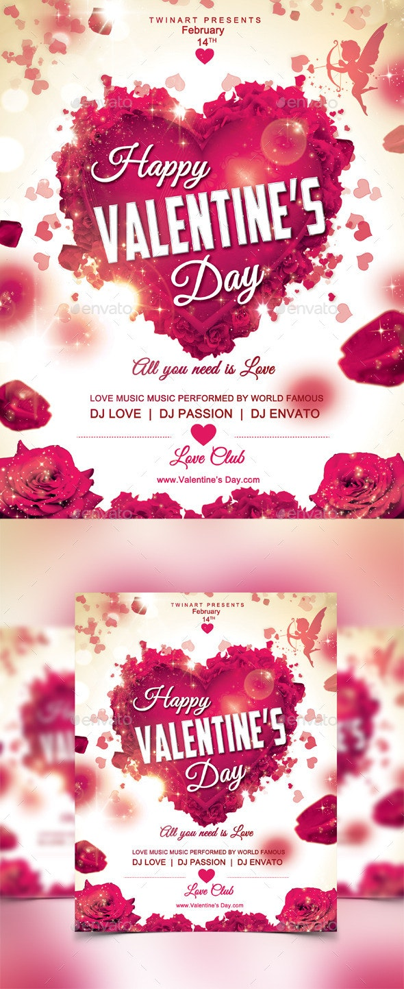Happy Valentines Day Flyer - Events Flyers