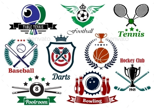 Sporting Emblems and Badges - Sports/Activity Conceptual