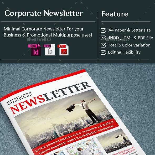 InDesign - Corporate Business Newsletter Template
