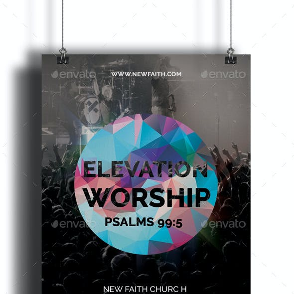 Elevation Worship Church Flyer