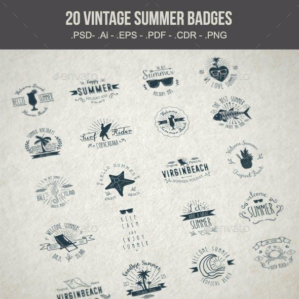 20 Summer Badges