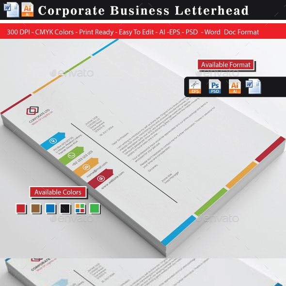 Colourful Business Letterheads(Updated)