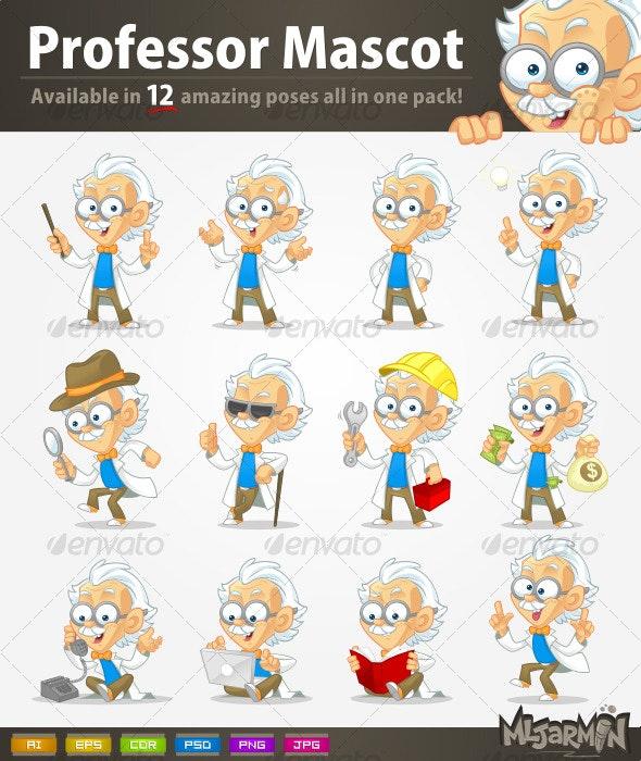 Professor Mascot Pack - Characters Vectors