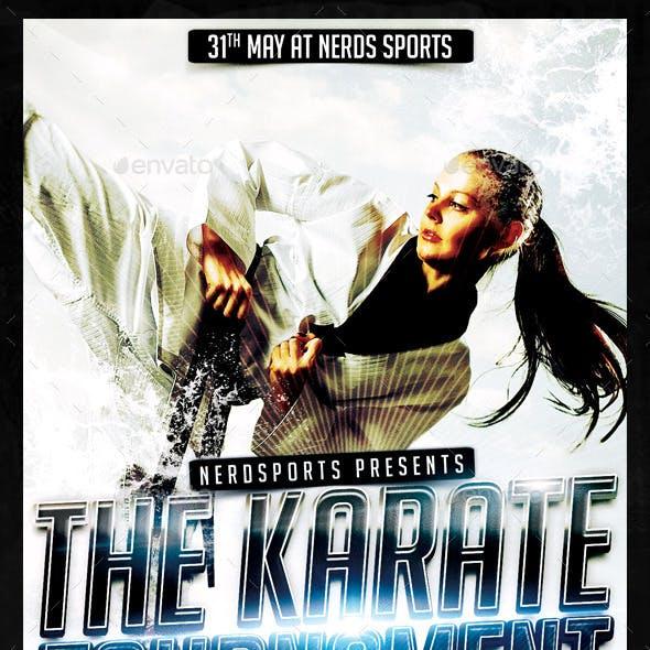 Karate Tournament Sports Flyer