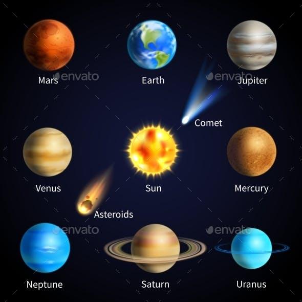 Realistic Planets Set