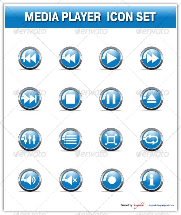 Media Player Icon Set - Media Icons