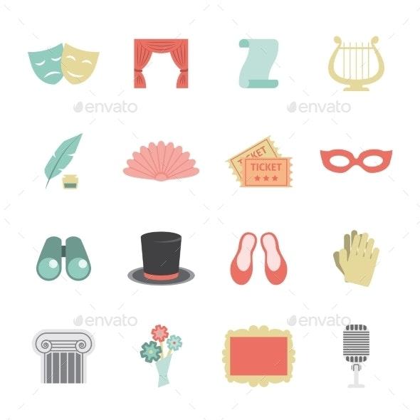 Theatre Icon Flat - Miscellaneous Icons