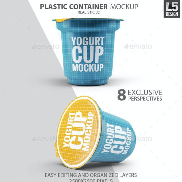 Plastic Container for Dairy Mock-Up