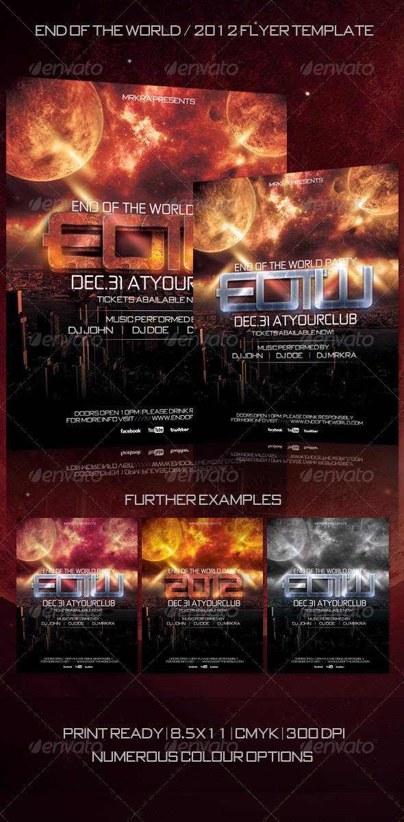 EOTW / 2012 New Years Flyer Template - Clubs & Parties Events