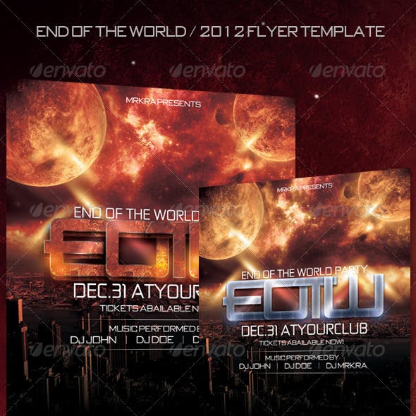 EOTW / 2012 New Years Flyer Template
