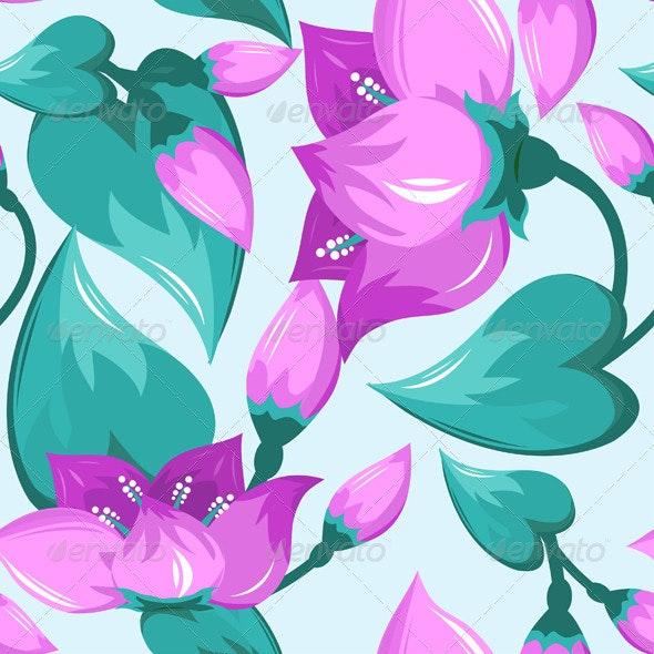 Purple Seamless Pattern  - Patterns Decorative