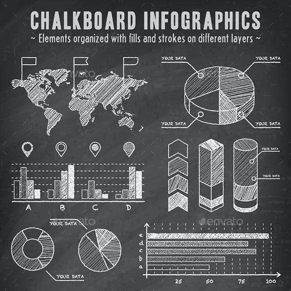 Chalkboard Vector Infographics