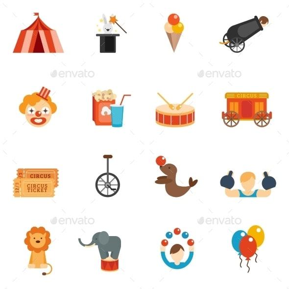 Circus Icon Flat - Miscellaneous Icons