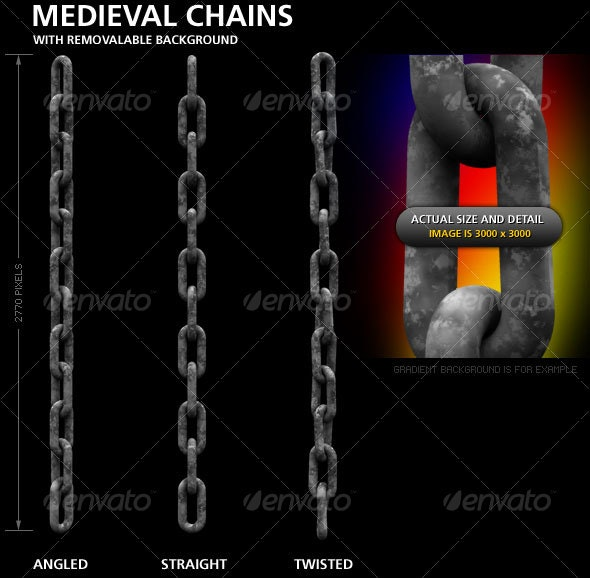 Medieval chains - Borders Decorative