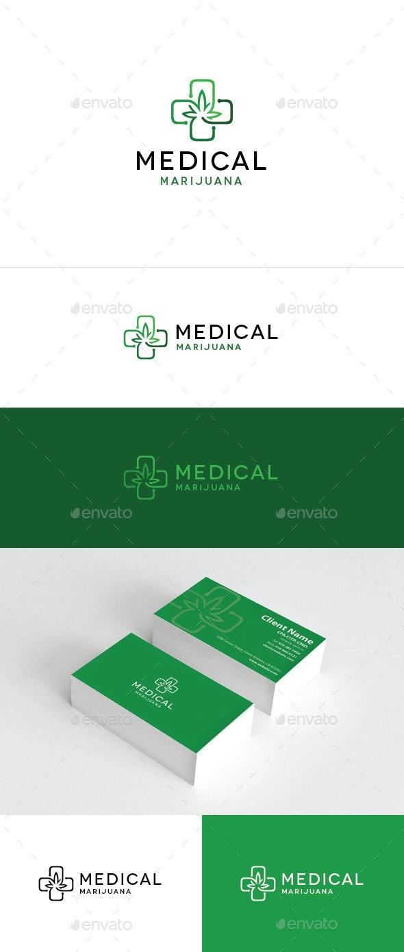 Medical Marijuana - Symbols Logo Templates