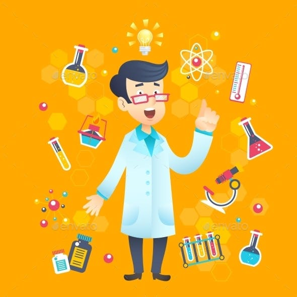 Chemist Scientist Character
