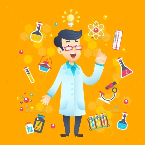 Chemist Scientist Character - People Characters