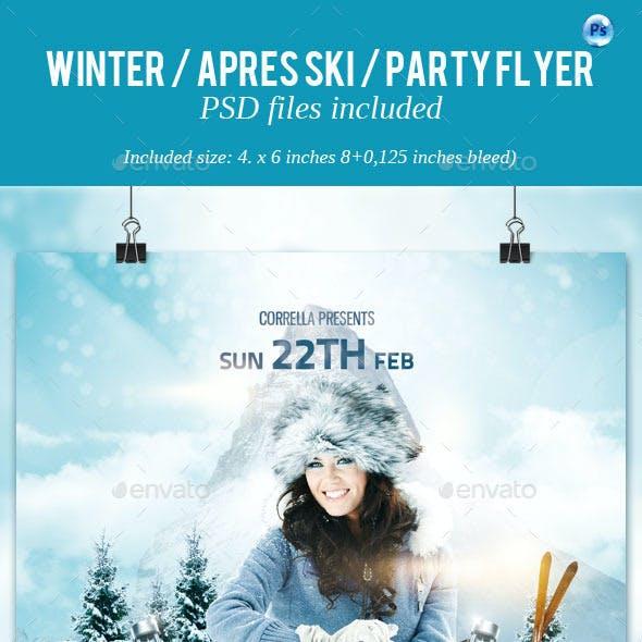 Winter / Apres Ski / Party Flyer