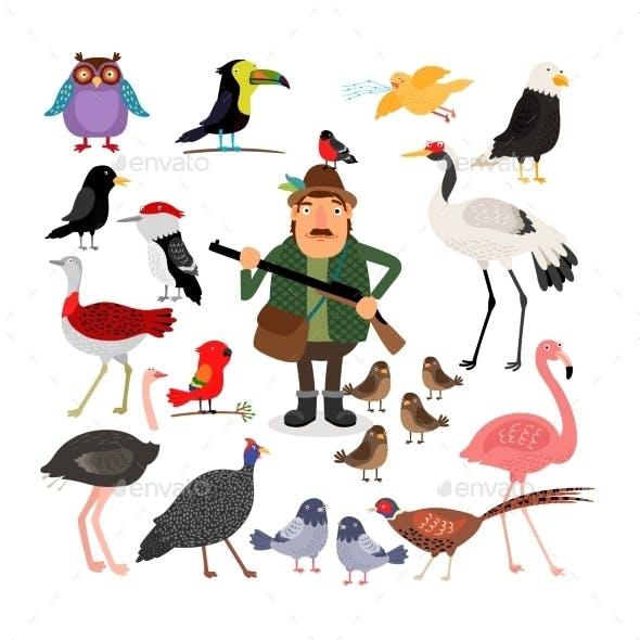 Birds and Hunter
