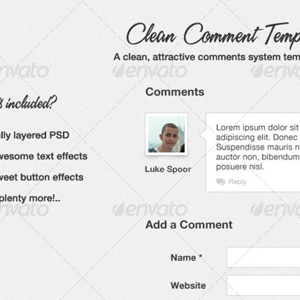 Clean Comment Template