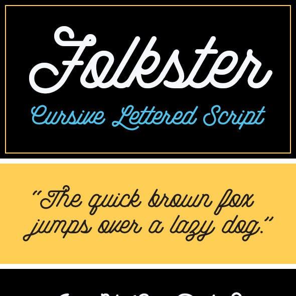 Folkster - Cursive Script Font