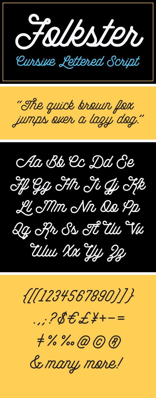 Folkster - Cursive Script Font - Cursive Script