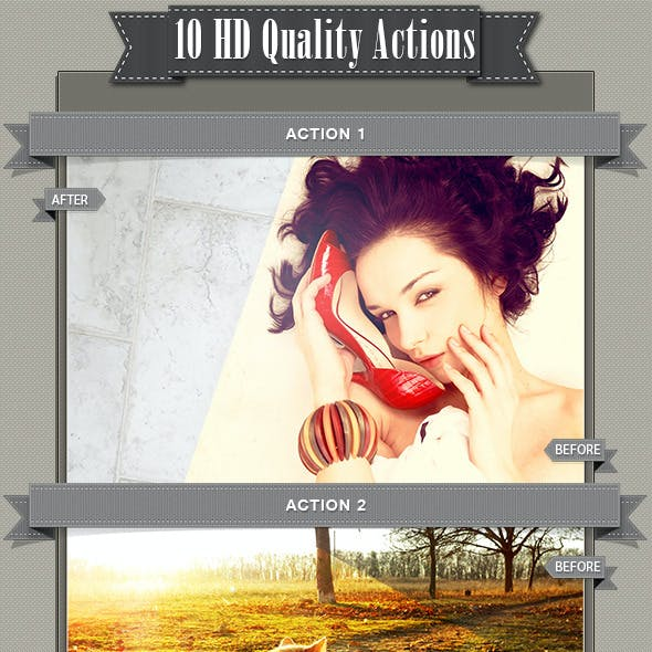 10 HD Quality Actions