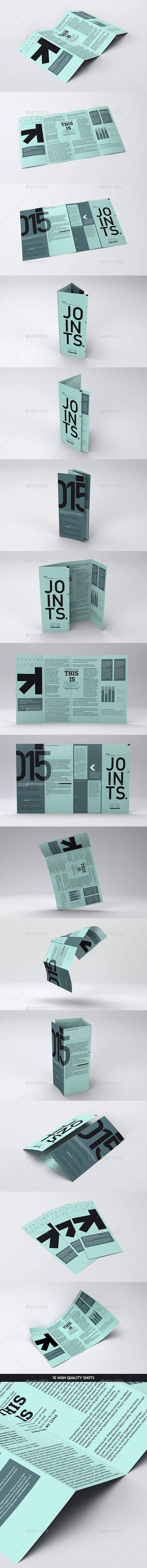 Gate Fold Roll Brochure Mockup - Brochures Print