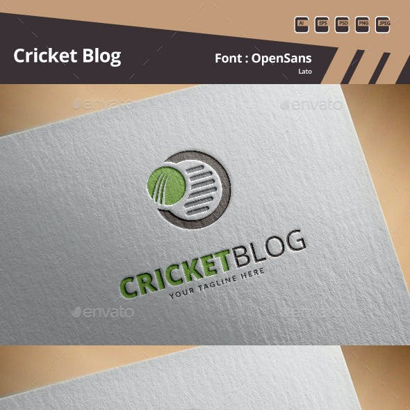 Cricket Blog Logo Template