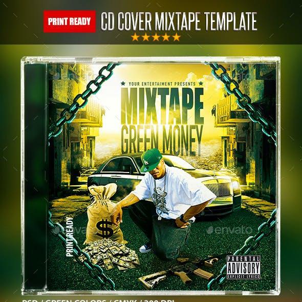 Green Money Mixtape Hip Hop Cd Template