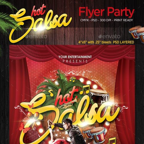 Hot Salsa Flyer Party