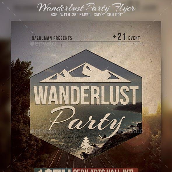 Wanderlust Party Flyer