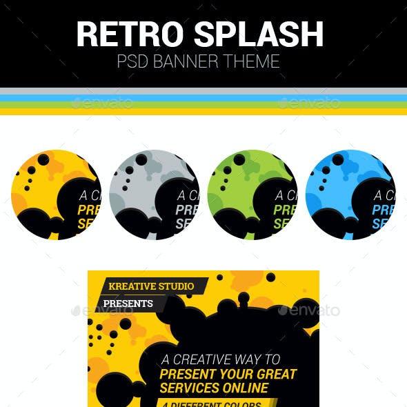 Retro Splash Banner Theme