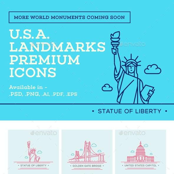 World Landmark Icons - Vol. 4 (U.S.A.)