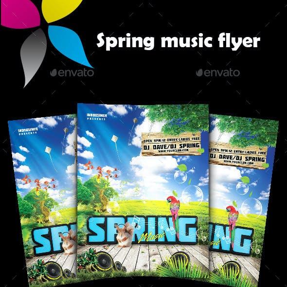 Spring Music Flyer