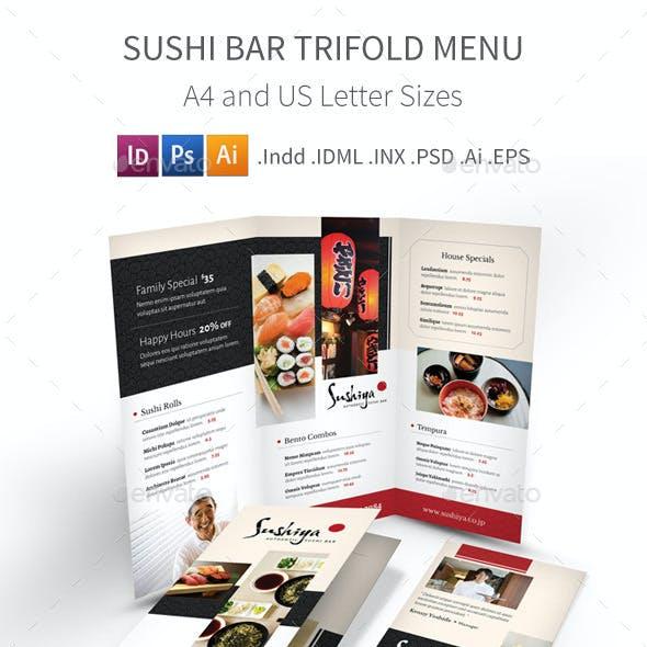 Sushi Bar Trifold Menu