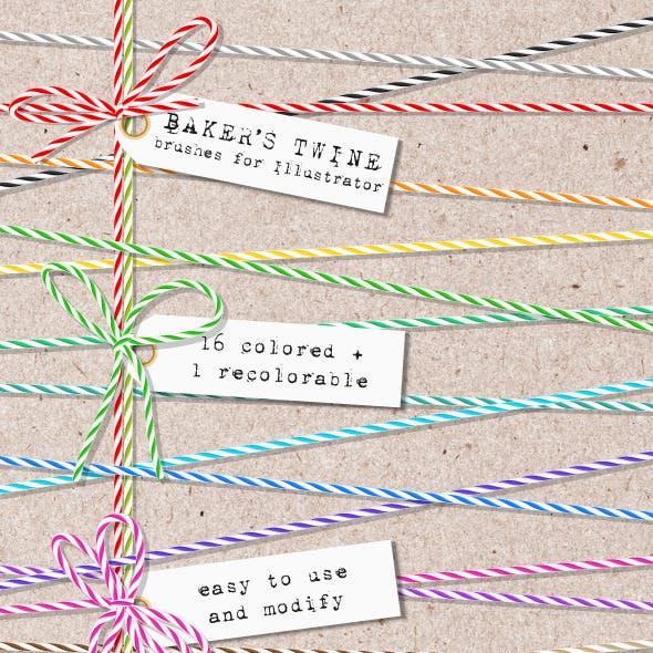 Baker's Twine Brushes for Illustrator