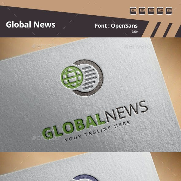 Global News Logo Template