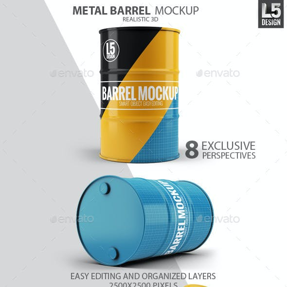 Metal Barrel Mock-Up