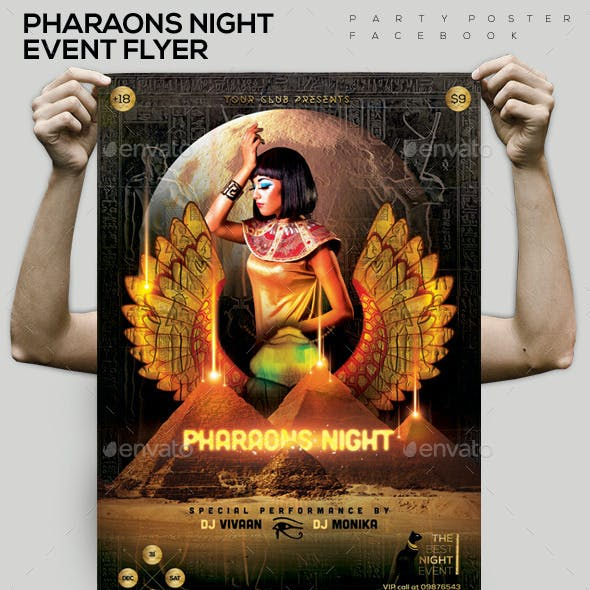 Pharaons Night  Event Flyer/ Poster/ FB Cover
