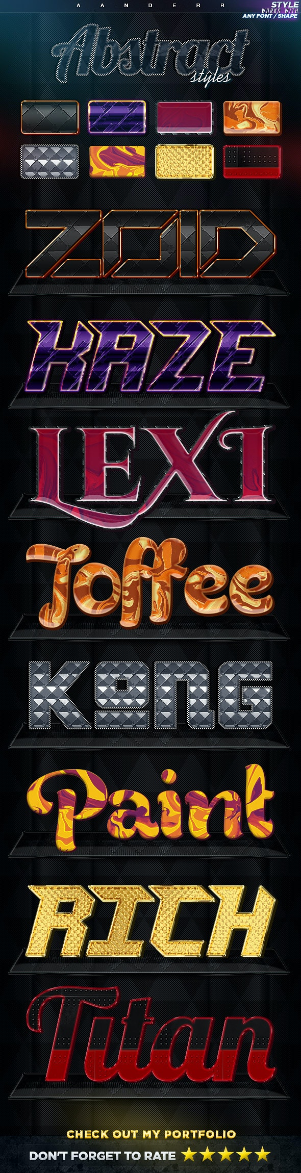 Abstract Photoshop Styles - Text Effects Styles