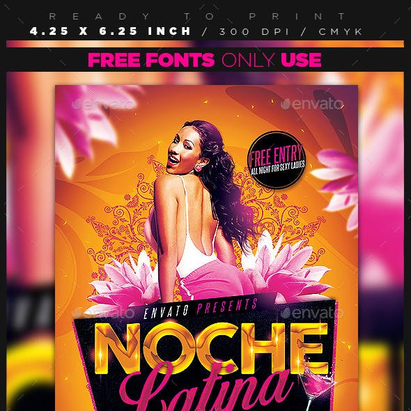 Noche Latina Party Flyer