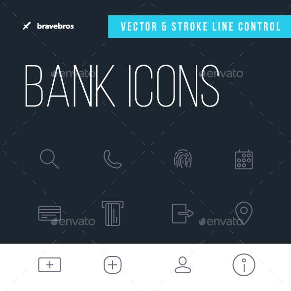 32 icons for Bank app or Financial service