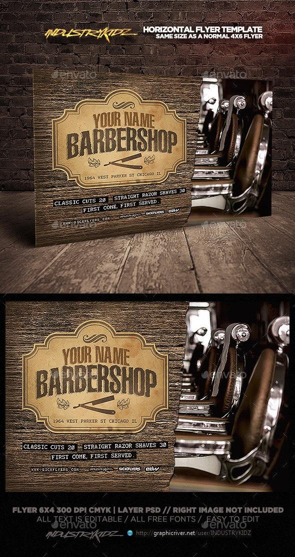 Barbershop Flyer Template Horizontal  - Corporate Flyers