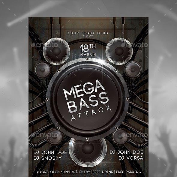 Mega Bass Attack Flyer