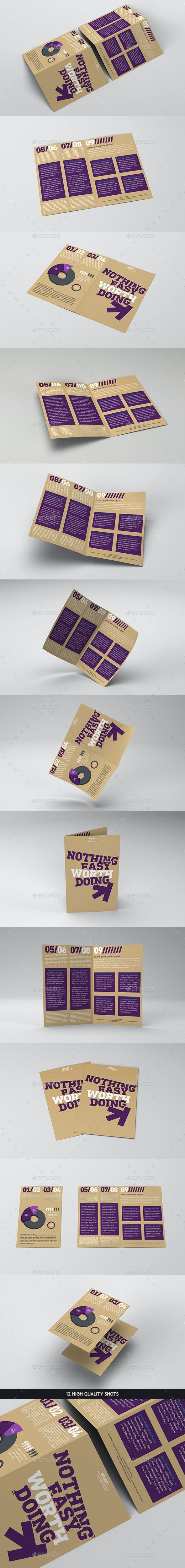 Bi-fold Brochure Mockup Pack - Brochures Print