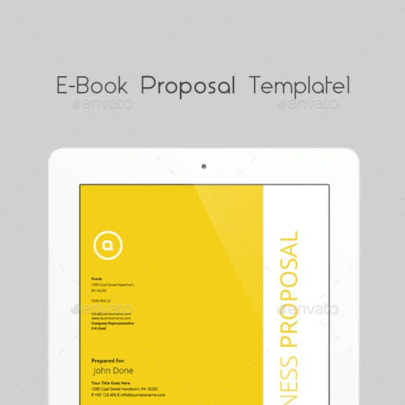 E-book Proposal Template